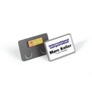 Durable 8130-01 - Porte-badges Clip-Card avec pince compi (75 x 40 mm)