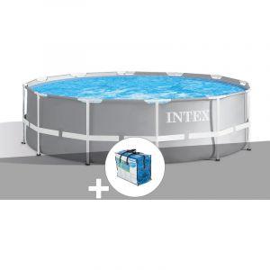 Intex Kit piscine tubulaire Prism Frame ronde 3,66 x 1,22 m + Bâche à bulles