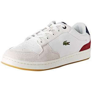 Lacoste Baskets basses Master Cup 319 blanches et rouges Blanc