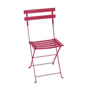 Fermob Chaise pliante bistro en métal coloris rose praline 38 x 40 x 82 cm