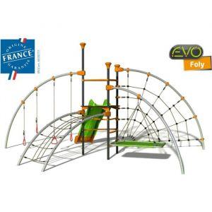 Trigano Structure de jeux Evo Foly- Tour centrale - 5 agres