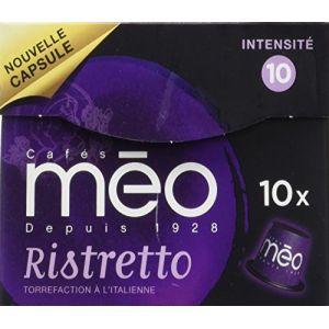 Méo 10 capsules Ristretto compatibles Nespresso