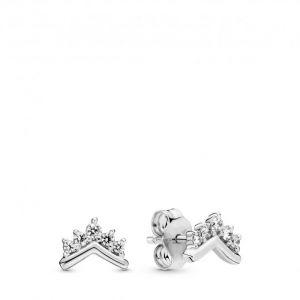 Pandora Boucles d'oreilles 298274CZ - Clous d'oreilles Voeu Tiare Argent