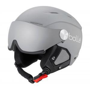 Bollé Backline Visor Casques de Ski Adulte Unisexe 54-56 cm, Grey White Matte, Small