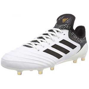 Adidas Copa 18.1 FG, Chaussures de Football Homme, Blanc (Footwear White/Core Black/Tactile Gold Metallic), 42 EU
