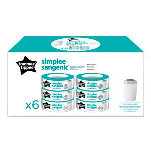 Tommee tippee Sangenic - 6 recharges pour poubelle à couches Simplee