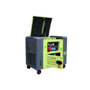Varan Motors Motors - 92625 Générateur électrique Diesel insonorisé Type Panda Groupe électrogène 400V+230V 6.25kVa
