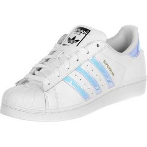 Adidas Superstar, Baskets Basses Mixte Enfant, Blanc (FTWR White/FTWR White/Metallic Silver SLD), 38 2/3 EU