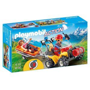 Playmobil 9130 Action - Secouriste des montagnes avec quad