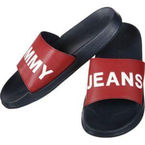 Tommy Jeans Slide tong rouge bleu 39/40 EU