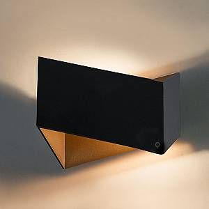 Qazqa Design/Moderne/Applique murale Fold noir et or Aluminium Autres Compatible pour LED G9 Max. 1 x 40 Watt/Luminaire/Lumiere/Éclairage/intérieur/Chambre á coucher/Cuisine