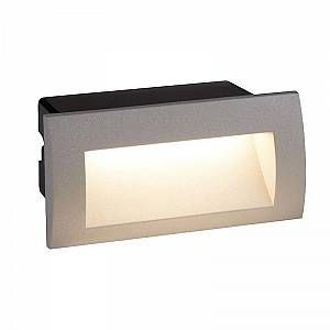 Searchlight Applique Ankle, fonte d aluminium et polycarbonate, gris, rectangulaire