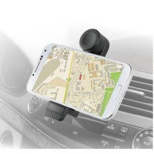 "Muvit MUCHL0042 Support voiture rotatif pour Smartphone 5"" Noir"