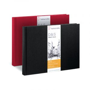 Hahnemühle Livre à croquis format paysage couverture noire 140g/m²
