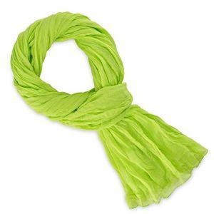 Allée du foulard Echarpe Chèche coton vert anis uni vert - Taille Unique