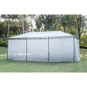 Tonnelle de jardin En acier polyester 6 x 3 m Gris