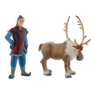 Bullyland 13062 - Figurine - Reine de neige - Mini Sven et Kristof
