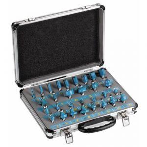 Leman 428.700.30 - Coffret 30 mèches carbure de défonceuse queue de 8mm