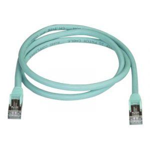 StarTech.com Cable reseau Cat6a STP blinde sans crochet - 1 m Aqua
