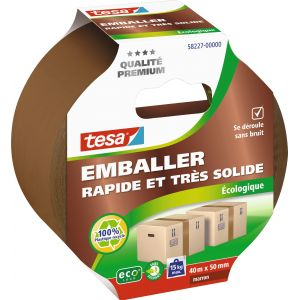 Tesa Adhésif emballage rapide et solide brun - 40 m x 50 mm