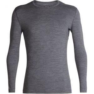 Icebreaker Mens 200 Oasis LS Crewe Gritstone Heather Sous-vêtements techniques
