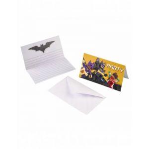 8 invitations et enveloppes Lego Batman