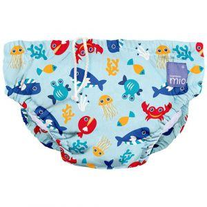 Bambino Mio Culotte de Natation, Deep Sea Blue, Medium (6-12 mois)