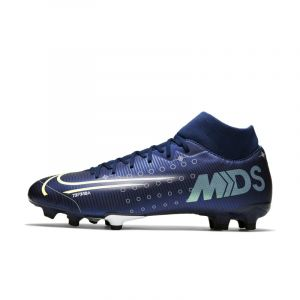 Nike Chaussure de football multi-surfaces à crampons Mercurial Superfly 7 Academy MDS MG - Bleu - Taille 44 - Unisex