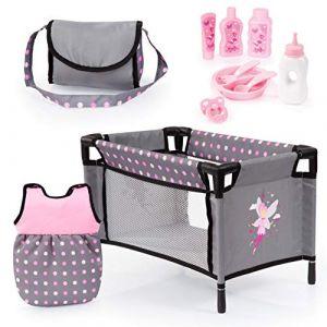 Bayer Design Ensemble d'accessoires gris/rose avec fée