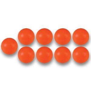 Bonzini 10 balles de Baby Foot en plastique orange (34 mm)