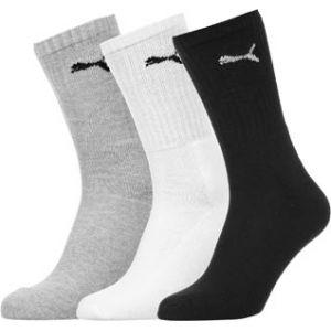 Puma Sport - Chaussettes de Sport - Lot de 3 - À Logo - Homme - Blanc/Gris/Noir - 39-42 EU