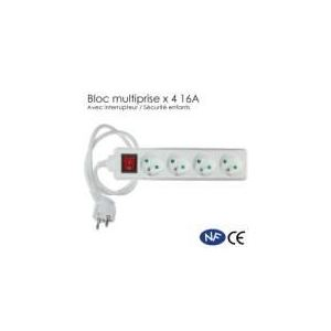 Securitegooddeal Bloc multiprises x 4 avec interrupteur