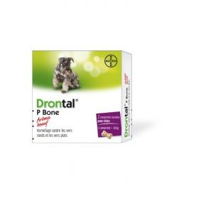 Bayer P bone boeuf chien 2 comprimes vermifuges