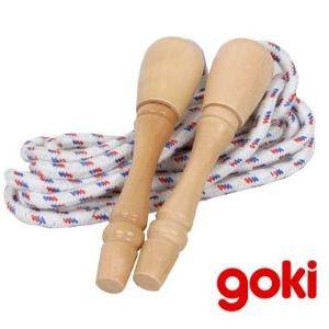 Goki Corde à sauter en bois (230 cm)