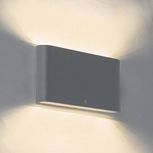 Qazqa Applique Moderne 17,5cm anthracite IP65 incl. LED - Batt