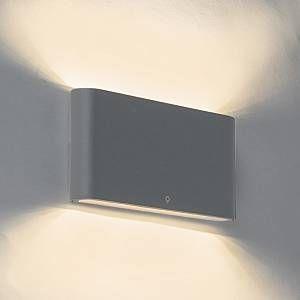 Image de Qazqa Applique Moderne 17,5cm anthracite IP65 incl. LED - Batt