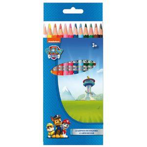 12 crayons de couleur Pat'Patrouille