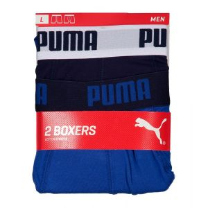 Puma Vêtements intérieurs -underwear Basic Boxer 2 Pack - True Blue - Taille XXL