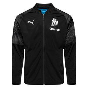 Puma Marseille Veste Stadium - Noir/Bleu - Noir - Taille Large