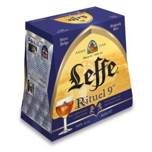 Leffe Bière blonde d'abbaye au caractère prononcé - Les 6 bouteilles de 25cl