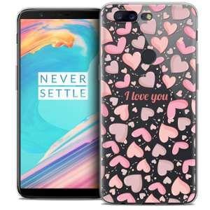 CaseInk Coque OnePlus 5T (6 ) Extra Fine Love I Love You