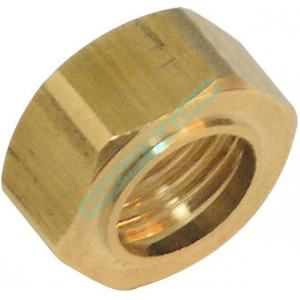 Image de Comap Ecrou 6 pans à collet battu 8374G laiton diam 10-15x21 réf E122070001
