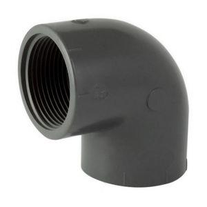 Codital Coude 90° PVC pression à visser FF 11/2 de - Catégorie Raccord PVC pression