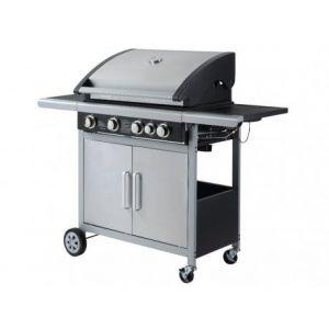 Nouba à leds - Barbecue à gaz en acier 4 brûleurs + 1 latéral