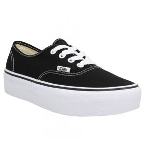 Image de Vans Authentic Platform 2.0, Baskets Femme, Noir (Black Blk), 37 EU