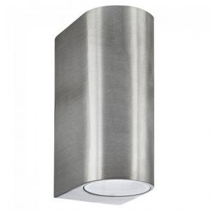 Searchlight Applique d'extérieur LED & Weranda (Gu10 Led) Ip44 2 flammes argent
