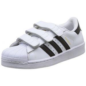 Adidas B26070, Chaussures de Basketball Garçon, Blanc (Footwear White/Core Black/Footwear White), 30 EU