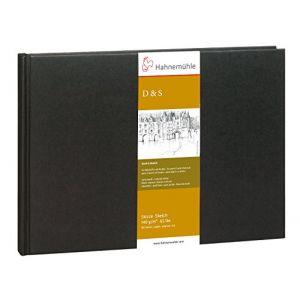 Hahnemühle Carnet de croquis - 140g/m², 14,8 x 21cm (A5) - Noir, paysage 96 feuilles