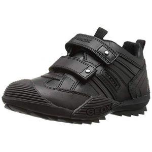Geox J Savage G-Vit.Liscio, Baskets mode garçon - Noir (Black), 39 EU