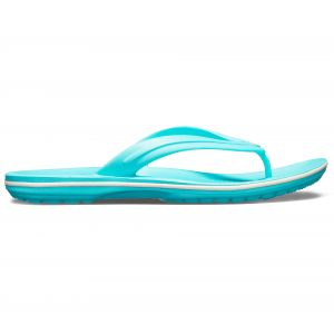 Crocs Crocband Flip Sandals Unisex, pool/white EU 37-38 Tongs